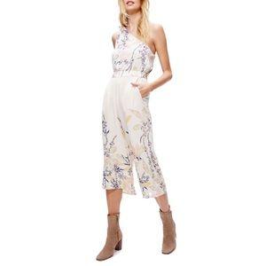 Free People Floral Jumpsuit Size XS